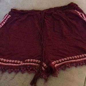 Pants - Cute maroon shorts